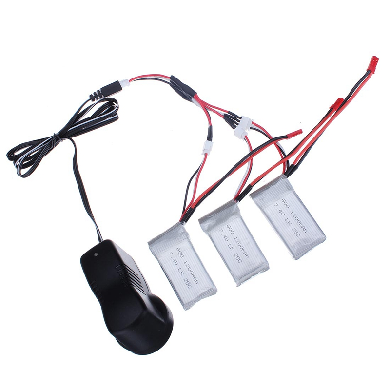 Wltoys 3 x 1200mAh 25C Battery Charging Set 7.4V Charger With Charging Cable For Rc Car Parts A949 A959 A969 A979 L959<br><br>Aliexpress
