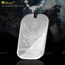 Bahamut Halo Spartan Necklace Dog Tag - Tianium Steel(China)