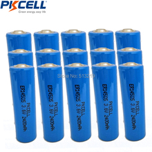 15 x AA Battery ER14505 14505 2400mah Lithium Non-rechargeable 3.6v Batteries 10 years Long shelf life(China)