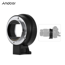 Andoer EF-NEX IV Electric Lens Adapter Ring AF Auto Aperture Exposure for Canon EF/EF-S Lens for Sony A7 NEX E-Mount Camera