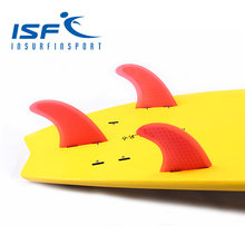 Red FCS surfboard fins quilhas de prancha de surf fin carbon longboard paddle surfboard four Quad future center fins(China)