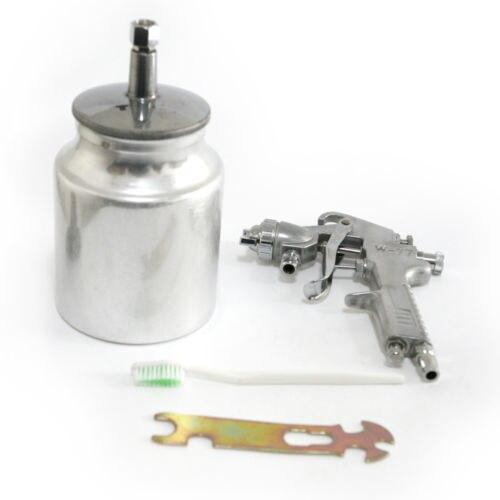 Fixmee 2.5mm Fluid Tip HVLP Gravity Feed Spray Gun Regulator 1/4 Air Inlet Tool 1000cc<br>