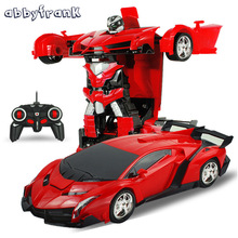 Abbyfrank RC Car Sports Car Models Transformation Robots Remote Control Deformation Car RC Robots Kids Toys Birthday Gifts