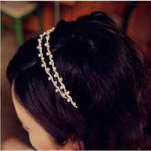 Korean version of the original wavy hair jewelry rhinestone pearl hair hoop headband hairpins free shipping new 2014 accessories