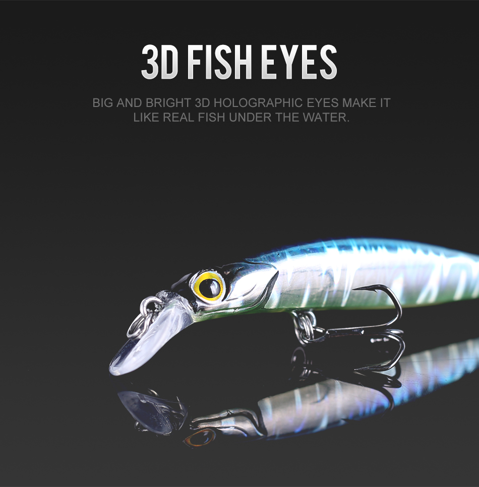 Kingdom Jackbaits Fishing lures 80mm 7.5g 105mm 16.5g Silence Sinking Minnow High Quality Hard Baits Good Action Wobblers (5)