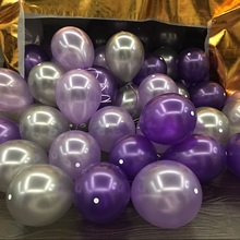 High quality 12 inch 2.8g Pearl balloon 35pcs/lot purple/silver   Optional latex balloon wedding supplies festival party decor