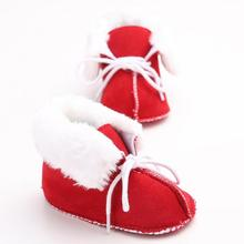Baby Crib Shoes First Walker Boots Girls Snow Boots Infant Solid Bowknot Shoes Prewalker Baby Winter Shoes 5 colors XV2