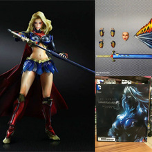 25cm Supergirl Kara In-ze Action & Toy Figures One Piece Action Figure Anime Figures Model Cartoon Figure(China)