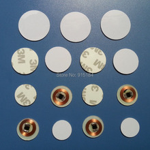 100pcs Free shipping 3M stickers coin type 125KHZ RFID coil card/ EM RFID chips /size:18/ 20/23/25/30/35mm