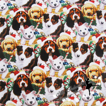 110*50cm 1pcs Fabric Dog 100%Cotton Fabric Telas Patchwork Christmas Dogs Printed Fabric Sewing Material DIY Child Clothing Toy