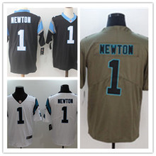 Mens 1 Cam Newton Jersey 2017 Rush Salute to Service High Quality Football Jerseys(China)