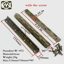 10pc 10*115mm KIMXIN long-term sales bronze flat hinges Wooden box hardware antique hinge Furniture and cabinet hardware w-072(China)