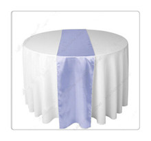 "Free shipping 36pcs  12""x108""  satin  lilac  tablecloth runner  for wedding chinese silk table runner"