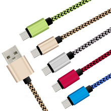 Latest Micro Usb Cable Metal Plug Nylon Braided Wire Usb Data Sync Charging Cable for Samsung Xiaomi Huawei Lenovo Android Phone