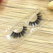 1Pair 3D Pure Mink Natural Black Long Thick False Fake Eyelashes Fake Eye Lashes Makeup Tail Extension Tools A02(China)