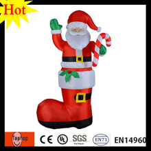 gaint high 6m 19.6ft holiday living felt ornament christmas ornament gift inflatable big santa claus with boots 420D Oxford(China)