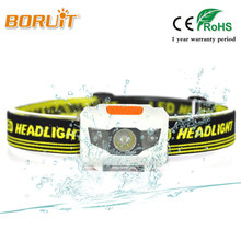 BORUIT High quality 380LM 4Mode headlamp Waterproof LED Headlight Flashlight Torch light Head lamp Red Light For Fishing Hunting