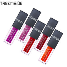 Hot Brand Long Lasting Velvet Lips Tint Liquid Lipstick Matte Beauty Cosmetics Sexy Nude Pigment Matte Lip Gloss Tattoo Makeup(China)