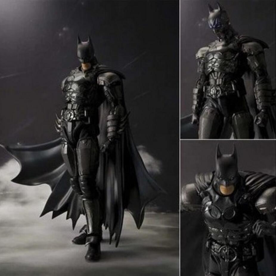 2017 New Original Box Bandai Batman Action Figure Movie Cartoon Bat-Man SHF 16cm PVC Model Anime Model Toys Juguetes kids toys<br><br>Aliexpress