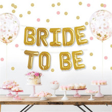 New 1set 16inch Gold Bride To Be Foil Letters Balloons Bachelorette Hen Night Party Decoration Wedding Decoration Favors Gifts-B(China)