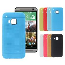 Hot selling 8 colors plastic Cellular Phone Sets Protective Sleeve Plaid Outlets case cover For HTC One M9 free shipping Joo