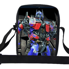 Popular Christmas Gifts For Children Cartoon Character Optimus BUMBLEBEE Megatron Shoulder Bag For Kids School Messenger Bag