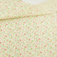 News Cotton Fabric Lovely Flowers Designs Patchwork Clothing Fat Quarter Crafts Doll Decoration Beige Tissue CM Home Textile CM