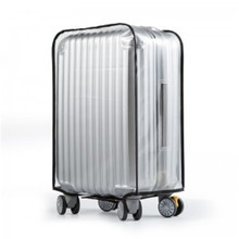 20 inch to 30 inch PVC transparent Suitcase cover 0.6mm thicker waterproof dust cover with velcro opening luggage protection bag