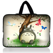"Totoro 10"" 10.1"" 10.2 9.7"" Handle Soft Shockproof Netbook Sleeve Tablet Laptop Computer Cover for google nexus10 for ipad air 2(China)"