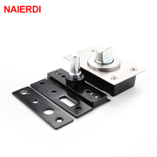 NAIERDI 360 Degree Revolving Door Hinge 90 Degrees Positioning Hidden Floor Pivot Hinges For Furniture Hardware(China)
