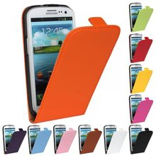 Luxury Genuine Real Leather Case Flip Cover Mobile Phone Accessories Bag Retro Vertical For Samsung GALAXY S3 I9300 PS(China)