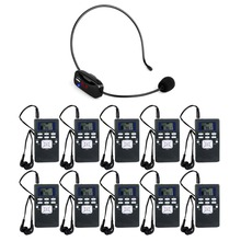 Wireless Voice Transmission System 1 FM Transmitter + 10 FM Radio Receiver for Guiding Church Meeting Training Y4305(China)