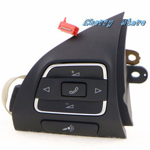 Genuine OEM Left Side Steering Wheel Control Button Fit VW Jetta Golf MK6 MKVI Eos 5C0 959 537 A NEW