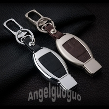 Zinc Alloy Car Key Cover Case bag For Mercedes Benz W204 W211 CLK C180 E200 AMG C E S Class Car Keyrings Holders Accessories