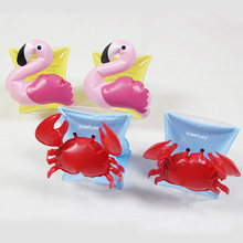 Hot Swimming Arm Ring Crab Flamingo Inflatable Arm Bands PVC Floatation Sleeves Water Wings Swimming Arm Floats for Children