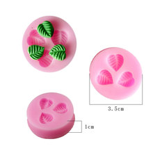 1pcs Three Leaf leaves molde de silicone para pasta americana Cake Mould Fondant Soap Mould silicone mold cooking tools