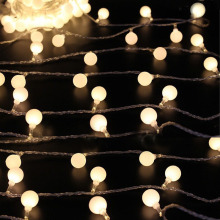 Novelty Outdoor lighting 50 /80 Beads 10m ball String LED Starry Light Rope patio Decor Fairy Icicle Lighting String EU Plug