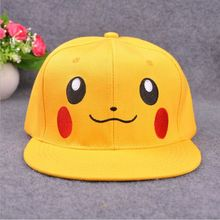2016 Hot Fashion lovely Unisex Women Men Pokemon Go Pocket Monster Pikachu Hot Hip-hop Flat Soft  Cotton Hat Baseball Cap Hot
