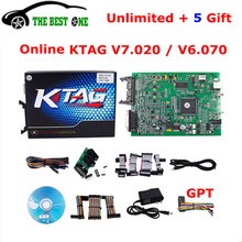 Unlimited Token Online Ktag V7.020 SW V2.23 Master 7.020 Tuning On Car Truck Tractor V6.070 K-TAG ECU Programming Tool Free Ship(China)