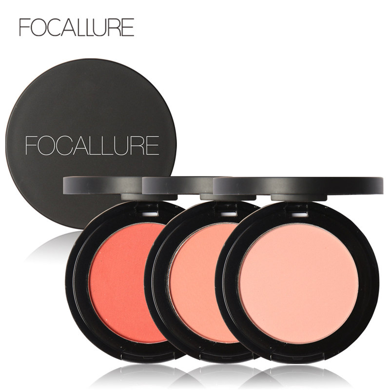 FOCALLURE 11 Colors Face Mineral Pigment Blusher Blush Powder Brozer Cosmestics Professional Palette Blush Contour Shadow(China (Mainland))