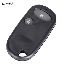 KEYYOU Car style Remote Key Fob Case Shell 2 Buttons for Honda Civic CRV Accord Jazz