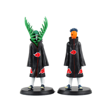 XINDUPLAN 2pcs Naruto Japanese Anime Akatsuki Uchiha Obito Zetsu Cartoon Figure Action Toys 16cm PVC Kids Collection Model 0584