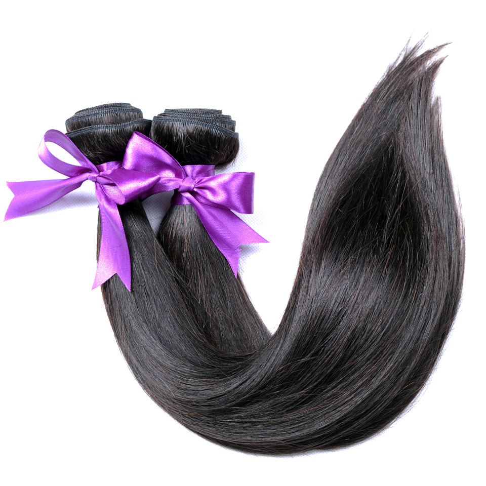Brazilian Hair Straight Weave Bundles 100 Human Hair Extensions Natural Color Shining Star Non Remy Thick Welf 1Pc Free Shipping