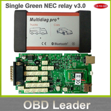 Big discount! Single Green PCB Multidiag Pro+ with Bluetooth Do More Cars/Trucks and OBD2 Scanner VD TCS cdp pro diagnostic tool