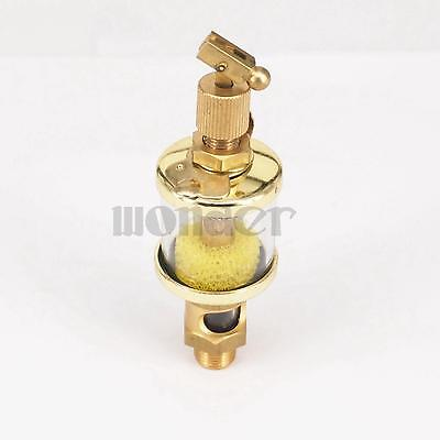 "1/8"" BSP Male x 1"" Outer Diameter Brass Sight Gravity Drip Feed Oiler Lubricator Oil Cup Hit Miss Engine"