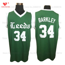 Cheap Leeds HS #4 Charles Barkley Jersey Throwback Basketball Jersey Vintage Retro Basket Shirt For Men Stitched Green(China)