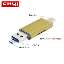High-Speed USB 3.0 OTG Type-C Card Reader Micro SD Memory CardReader Universal 3 in 1 Combo to Slot TF for Smartphone PC Laptop