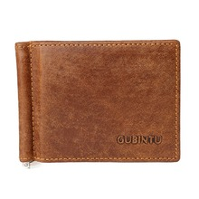 GUBINTU Man Leather Wallet Male Clutch Purse Men Cow Genuine Leather Wallet For Male Holding Cash Cards Opening Horizontal Style