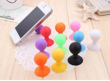 Colorful Universal Phone Holder Stander Monopod Mobile Phone Silicone Rubber Octopus Sucker Ball Stand Holder mobile phone stand(China)