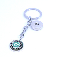 Ice Hockey Jewelry Keychain NHL Dallas Stars Charms /18mm Snap Button Charms Car Keyring for Women Men Gift 2017